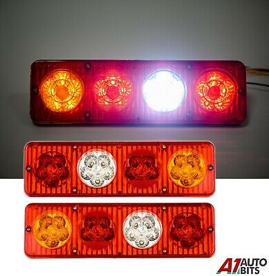 Pair Of 24V Rear Stop 36 Led Lights Indicator Fog Lamp Trailer Truck Tipper Van