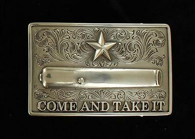 Nocona Western Mens Belt Buckle Star Come And Take It 37103