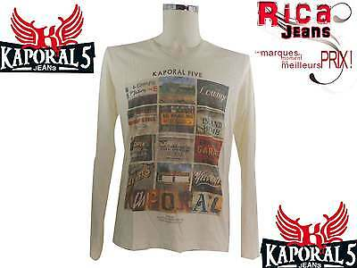 Tee Shirt Manches Longues Homme  Kaporal5 Homme  Croze Off White