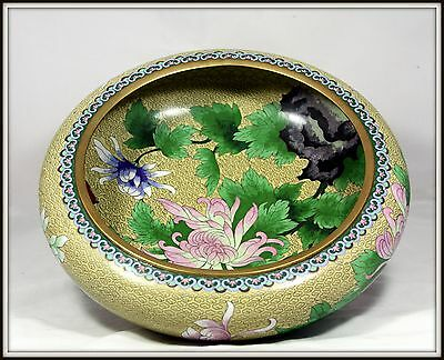 """Extraordinary!  """"Grand Size Hand Made Chinese Cloisonne Bowl""""  (15"""" Diameter)"""