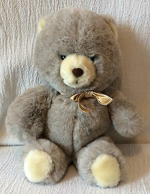 "12"" Vintage Animal Fair Plush Soft Brown Teddy Bear"