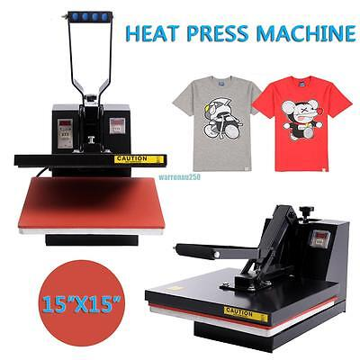 "Digital Heat Press Transfer T-Shirt Sublimation Clamshell Machine 15""x15"""