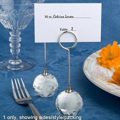 Choice Crystal Collection Crystal Ball Place Card Holder