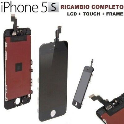 Touch Screen Vetro Schermo + LCD Display Assemblato per iPhone 5S Nero AAA+
