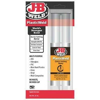 J-B Weld 50132 PlasticWeld Quick-Setting Epoxy Syringe - Dries Off-White - 25 ml