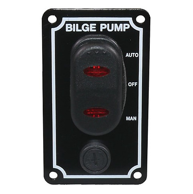 12V Marine Bilge Pump Waterproof Switch Panel Boat Chandlery / Yacht