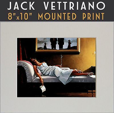 """The Letter - Jack Vettriano Mounted Art Print 10"""" x 8"""" A Genuine 2017© Print"""