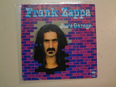 "FRANK ZAPPA: Joe's Garage 6:10- Catholic Girls 4:26-Holland 7"" 1979 CBS 7950 PSL"