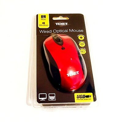 Texet  Mac Windows Wired Optical Mouse