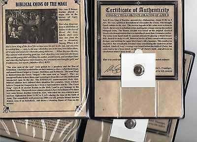 1-  Ancient Bronze Roman Bible Coins of the Magi '3-Wisemen' PREMIUM GRADE COA