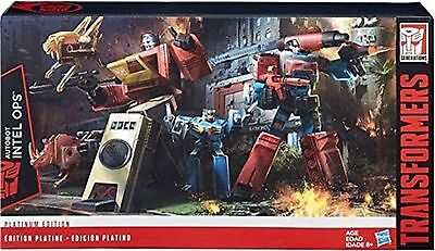 Transformers Platinum Edition Autobot Intell Ops Blaster And Perceptor Ages 8+