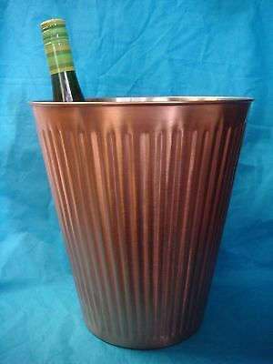 Satin Copper Wine Bucket Sophisticated Chic Ribbed Brand-New Commercial-Quality