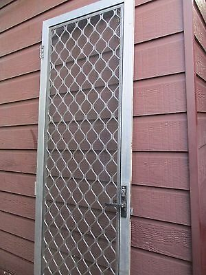 Security Screen aluminium  (NO KEY wire tear) DOOR 60cm x 202cm, --pickup Kuraby
