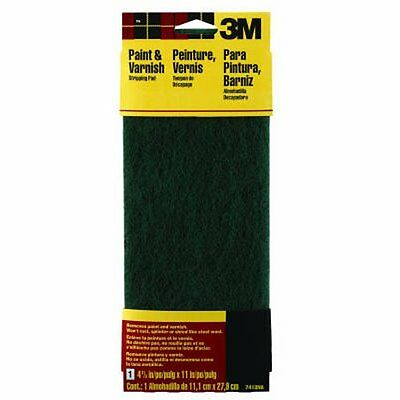 3M Hand Sanding Stripping Pad, Green, Coarse, 4.375-Inch by 11-Inch