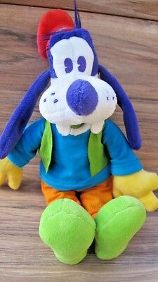DISNEY Purple, Teal, Orange & Green GOOFY Colorful Character Plush Toy Doll EUC