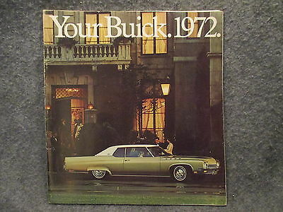 Your Buick 1972 Dealers Showroom Brochure Booklet Guide Catalog Book All Models