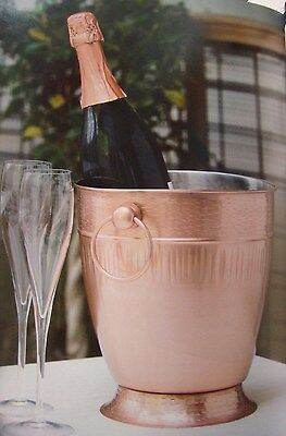 Satin Copper Champagne Bucket Sophisticated Chic Brand-New Commercial-Quality