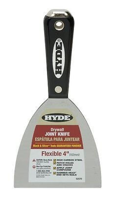 Hyde Tools 02570 4-Inch Flex Hammer Head Joint Knife, Black and Silver