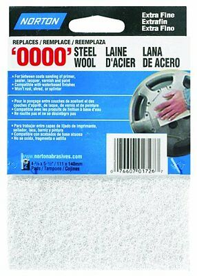 Norton 01726 Synthetic Steel Wool, White, 2-Pack