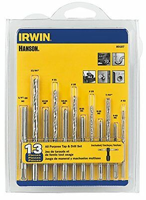 HANSON 80187 All-Purpose Bit with Tap 13 Piece Set