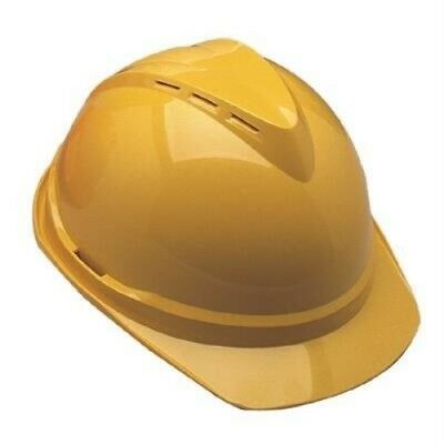 Msa 10034020 V-Gard Vented Yellow Hard Cap 4 Point Susp.