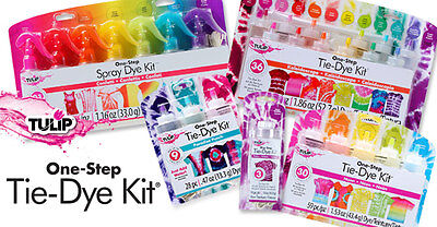 Tulip One Step Tie Dye 5 Colours Kits in Carousel, Neon, Rainbow, Ultimate