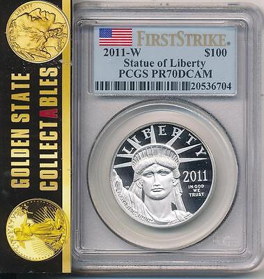2011 W $100 Proof Platinum Eagle 1Oz. Pcgs Pr70 First Strike Key Date Pop 169!