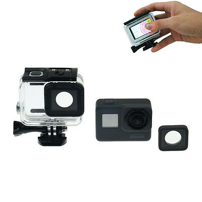 60M Waterproof Diving Case + Touch Screen Backdoor Cover For Gopro Hero 5 Black