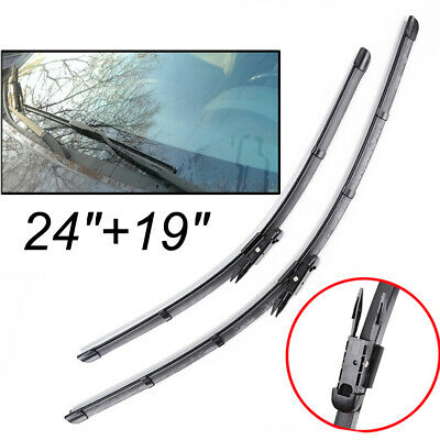 "Pair 24""19"" Front Windscreen Flat Wiper Blades For BMW F30 F31 F34 E92 E93 E84"