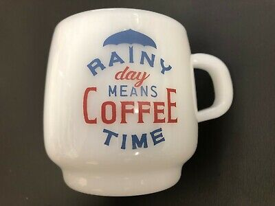 KINTO Mug Cup Sign Paint SCS Rainy 340ml Heat Resistant Glass 27673 from JAPAN