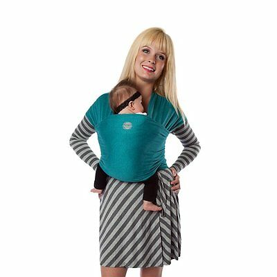 Authentic MOBY EVOLUTION BAMBOO Baby Wrap/Carrier/Sling-TEAL-Great for newborns!