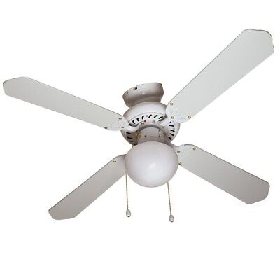 BOSTON HARBOR CF-78133 Ceiling Fan with Downrod and 1 Light, 42-Inch, White