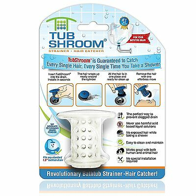 TubShroom The Revolutionary Tub Drain Protector Hair Catcher/Strainer/Snare,...