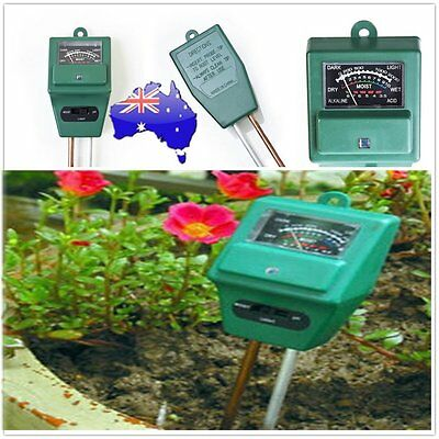 3 in 1 PH Tester Soil Water Moisture Light Test Meter for Garden Plant NEW ZO