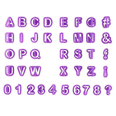 40Pcs Alphabet Number Letter Fondant Cake Cookie Cutter Pan Mold Biscuit ZO