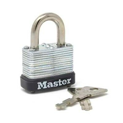 "Master Lock 10D 1"" Wide Laminated Steel Warded Padlock"