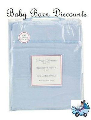 NEW Sweet Dreams - Bassinette Sheet Set - Blue from Baby Barn Discounts