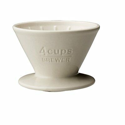 KINTO Coffee Brewer SCS-04-BR-WH 4 Cups White 27631 Porcelain MADE IN JAPAN