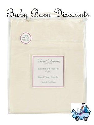 NEW Sweet Dreams - Bassinette Sheet Set - Cream from Baby Barn Discounts