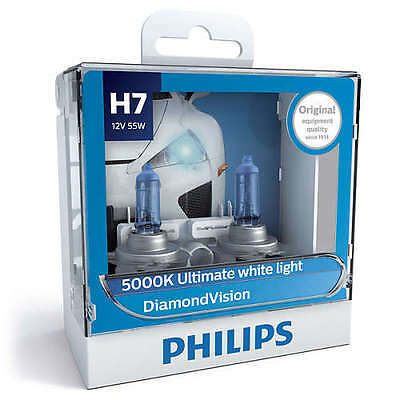 Philips 12972DVS2 - Diamond Vision H7 Globe 12V 55W 2 Pack fits Holden Commod...