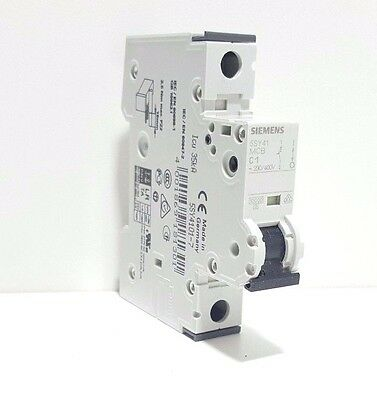 "**new** Siemens 5Sy4101-7 Circuit Breaker 230/400V 10Ka, 1-Pole, C, 1A ""no Box"""