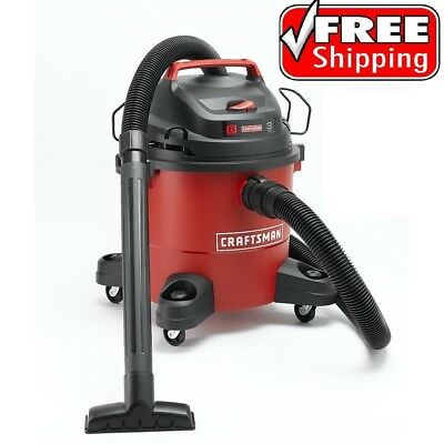 Craftsman Wet Dry Vac 6 Gallon Vacuum Cleaner 3 Peak HP Portable Shop Blower