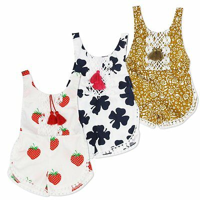 Infant Toddler Kid Child Kid Girls Sleeveless Romper Jumpsuit Bodysuit Clothes