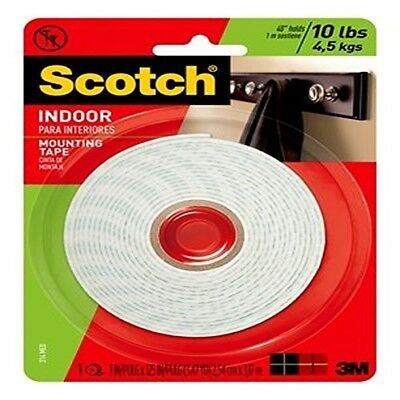 3M Scotch Heavy Duty Mounting Tape, 1-Inch by 125-Inch (314) holds up to 5 lbs.