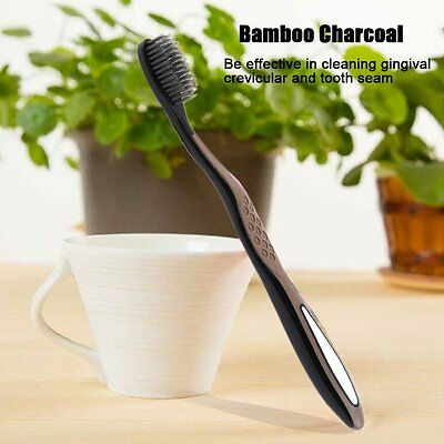 Super Soft Bamboo Charcoal Toothbrush Dental Oral Clean Care Toothbrush AU