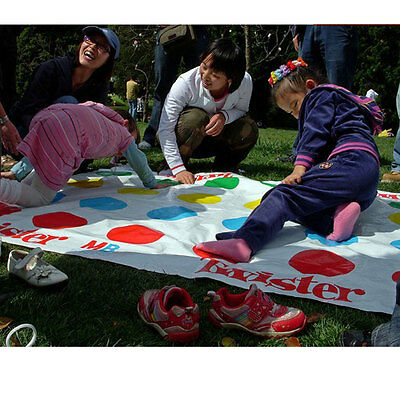 Kids Body Twister Moves Play Board Game Group Party Outdoor Sport Toy Gift
