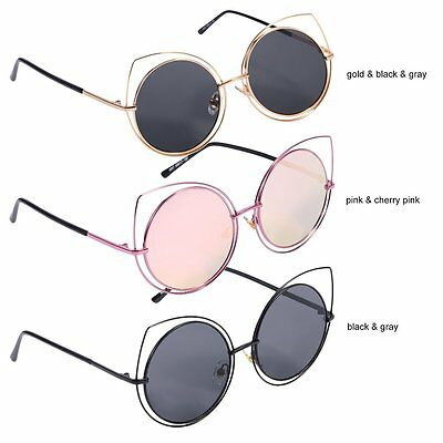 Trendy Special Women Sunglasses Metal Frame Hollow Out Cat Eyes Sunglass Lot AU