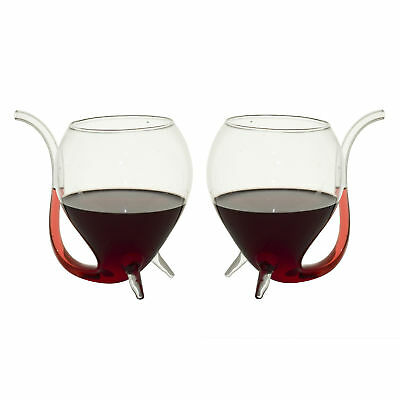 Wine Sippers with Built in Sipping Straws - Set of 2 - glass glasses vampire