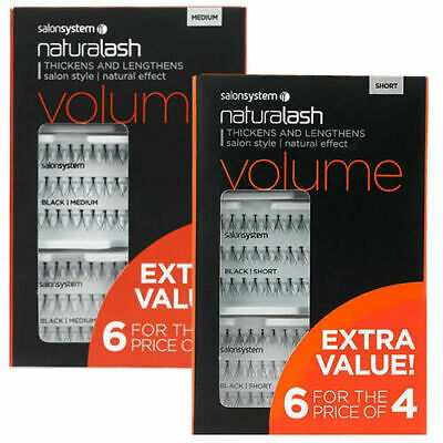 Naturalash Salon Systems - Volume IND Lashes SALON VALUE  6 Pks For Price of 4
