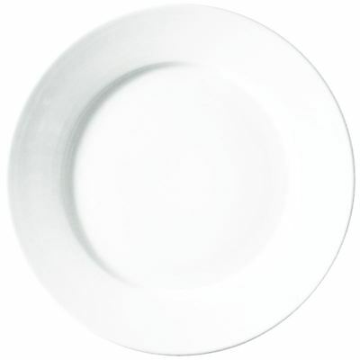 36X Athena Hotelware Bulk Buy Rimmed Plate 6 1/2 In 165mm Porcelain